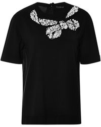 Marc Jacobs Embellished Wool-Blend Knit Top - Lyst