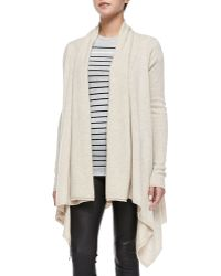Vince Draped Open-Front Cardigan - Lyst