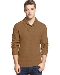 Tommy Hilfiger Portland Shawl Collar Sweater - Lyst