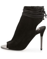 Dolce Vita Hadlie Suede Laced-Back Bootie - Lyst