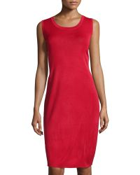 Misook Essential Knit Tank Dress - Lyst