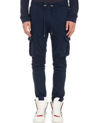 Balmain Moto Sweatpants - Lyst
