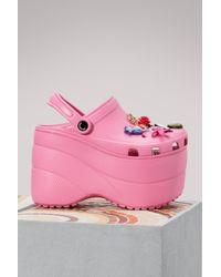 Balenciaga - Chunky Sole Crocs - Lyst