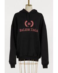 Balenciaga - Hoodie oversize BB - Lyst