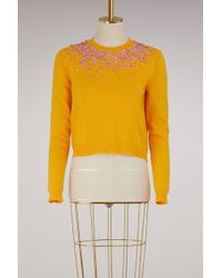 Miu Miu - Embroidered Cashmere Sweater - Lyst