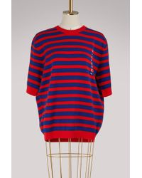 Givenchy - Striped Cotton-blend Jumper - Lyst