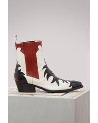 Sartore - Flamm Leather Cowboy Ankle Boots - Lyst