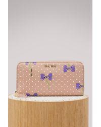 Miu Miu - Bows Zip Arround Wallet - Lyst