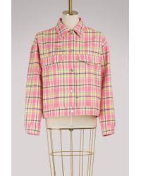 MSGM - Checkered Jacket - Lyst