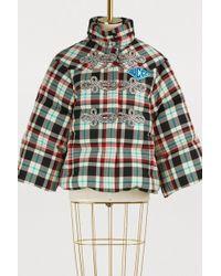 Gucci - Embellished Tartan Wool Down Jacket - Lyst