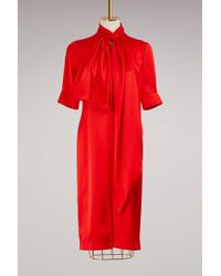 Givenchy - Lavallière Collar Dress - Lyst