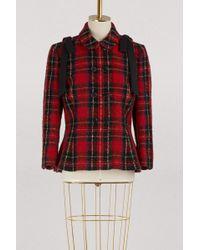 Simone Rocha - Bow-embellished Tartan Tweed Jacket - Lyst