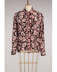 KENZO - Silk Pyjama Shirt - Lyst