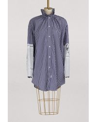 Balenciaga - Long Sleeved Striped Shirt - Lyst