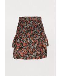Étoile Isabel Marant - Naomi Black Skirt With Flounces - Lyst