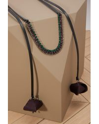 Marni - Necklace With Flowers And Strass - Lyst