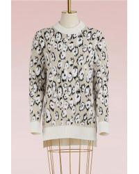 Proenza Schouler - Leopard Jacquard Wool Sweater - Lyst