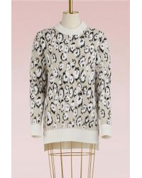 Proenza Schouler - Leopard Jacquard Wool Jumper - Lyst