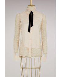 Lanvin - Lace Shirt - Lyst