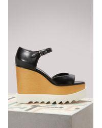 Stella McCartney - Elyse Wedge Sandals - Lyst