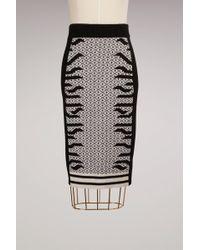 KENZO - Wool Knee Lenght Skirt - Lyst