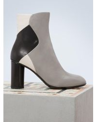 Sartore - Leather Colour Block Ankle Boots With Heels - Lyst