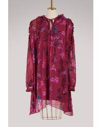 Balenciaga - Short Sleeves Short Dress - Lyst