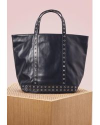 Vanessa Bruno - Leather And Eylets Medium+ Tote - Lyst