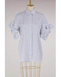 Victoria, Victoria Beckham - Bow Sleeve Shirt - Lyst
