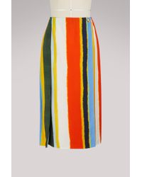 Tory Burch - Fiona Striped Skirt - Lyst