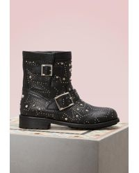 Jimmy Choo - Youth Leather Biker Boots - Lyst