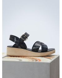 A.P.C. | Leather Odette Sandals | Lyst