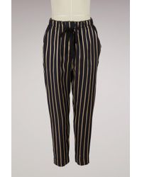 Forte Forte - Striped Draped Trousers - Lyst