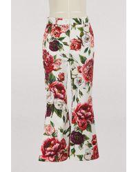 Dolce & Gabbana - Pionies Print Trousers - Lyst