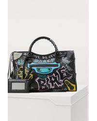 Balenciaga - City Graffiti Handbag - Lyst