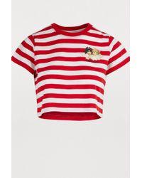 efebd0dbba3 Fiorucci - Cropped Striped Angels T-shirt - Lyst