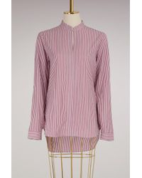 Marie Marot - Cotton Stripped Mary Shirt - Lyst