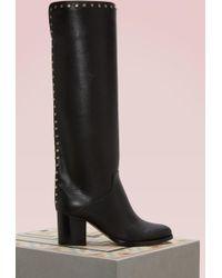 Jimmy Choo - Monroe 65 Leather Boots - Lyst