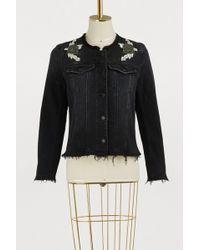 7 For All Mankind - Embellished Denim Jacket - Lyst