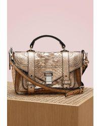 Proenza Schouler | Ps1+ Python Embossed Shoulder Bag | Lyst