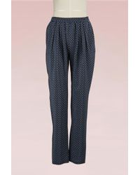 Stella McCartney | Christine Silk Trousers | Lyst