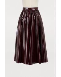 MSGM - Varnished Skirt - Lyst
