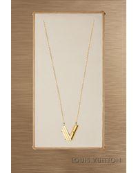Louis Vuitton - Lv & Me Necklace, Letter V - Lyst