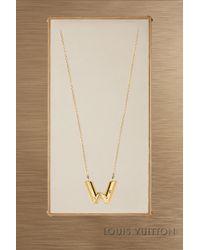 Louis Vuitton - Lv & Me Necklace, Letter W - Lyst