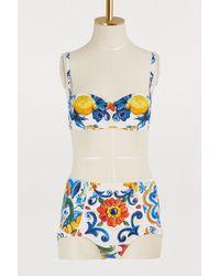 Dolce & Gabbana - Maiolica Bikini - Lyst