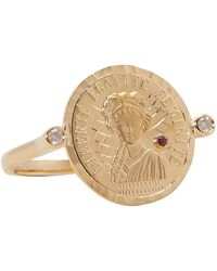 Anissa Kermiche Louise D'or Coin Ring - Metallic