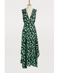 Diane von Furstenberg - Silk Draped Long Dress - Lyst
