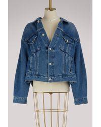 5dc1f70c5d4231 Balenciaga Swing Denim Jacket in Blue - Save 20% - Lyst