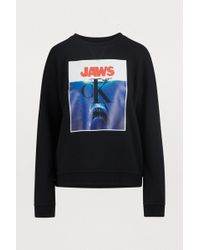 CALVIN KLEIN 205W39NYC - Jaws Logo Cotton Sweatshirt - Lyst