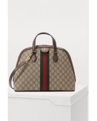 23d974ab74c Lyst - Gucci Ophidia GG Tote With Three Little Pigs in Brown